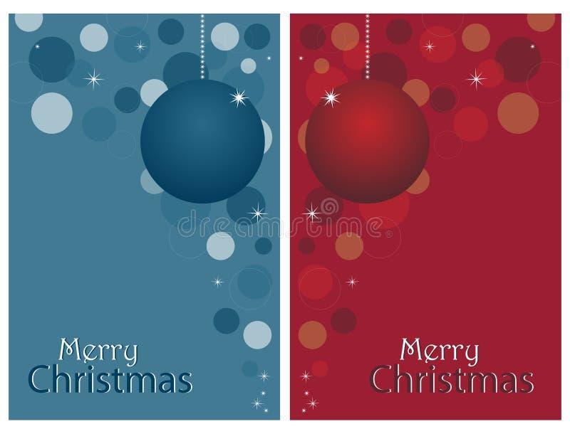 Cartoline di Natale - insieme illustrazione vettoriale