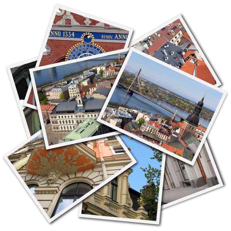 Cartoline di Riga fotografie stock libere da diritti