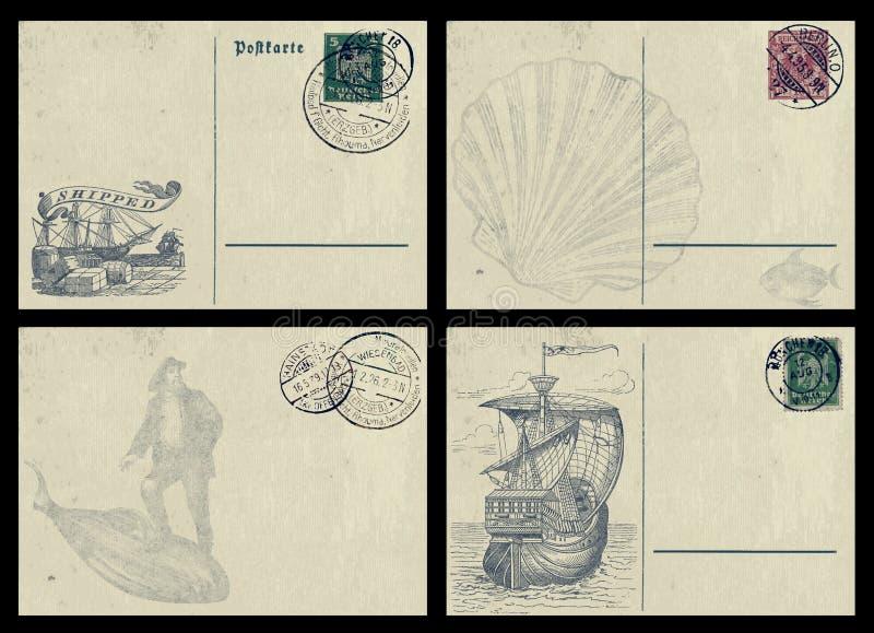 Cartoline nautiche fotografie stock