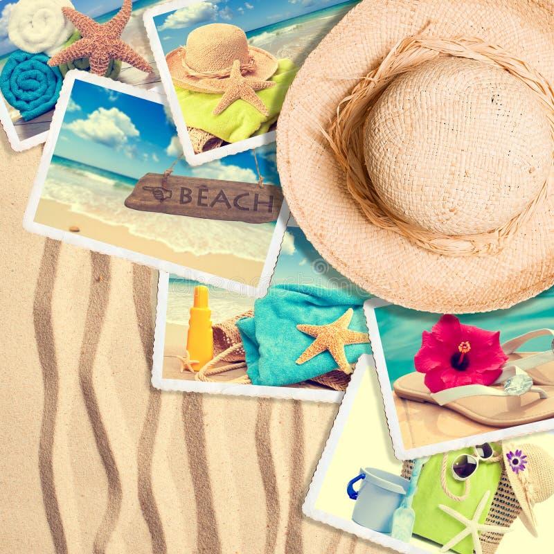 Cartoline nella sabbia fotografie stock