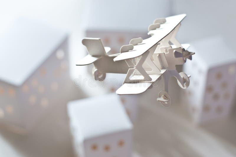 Download Carton Airplane Over Carton City Stock Image - Image: 21048453