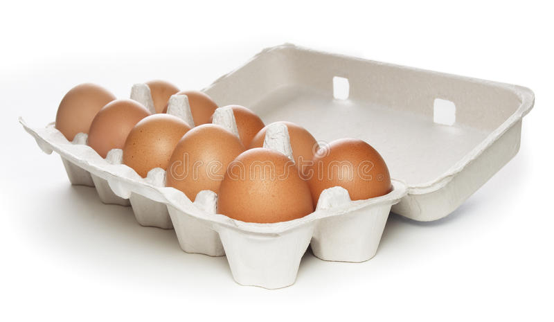 Download Carton box with brown eggs stock image. Image of cooking - 9648647