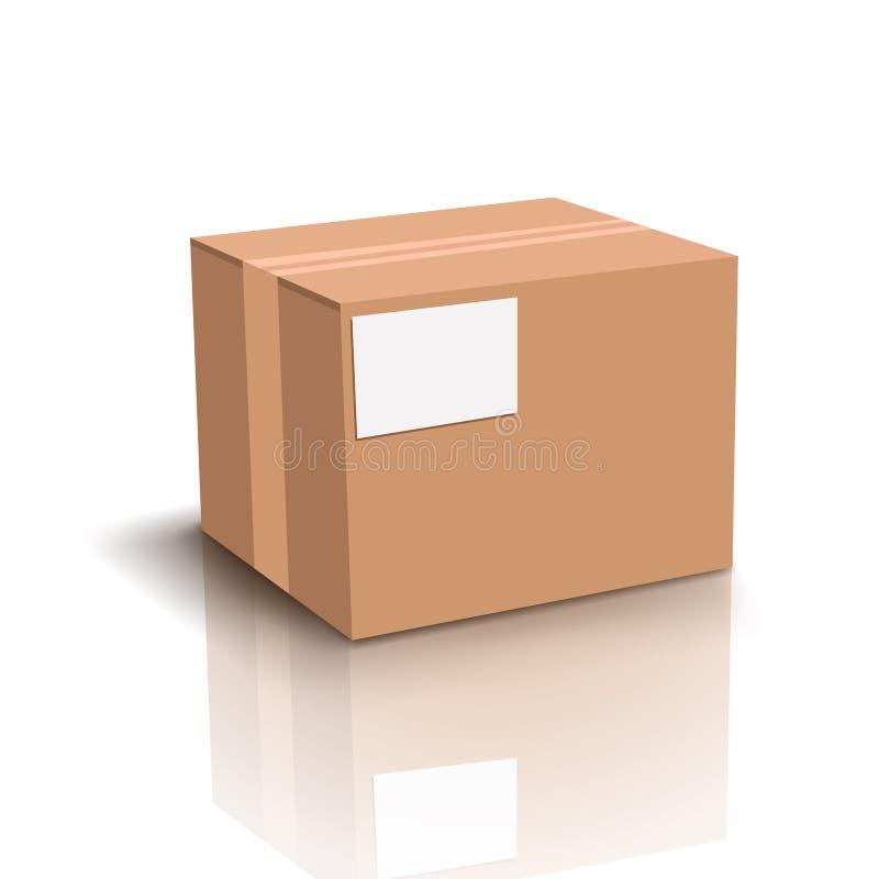 Carton box with shadow vector illustration