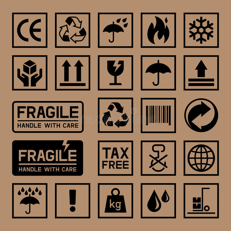 Carton Cardboard Box Icons. vector illustration