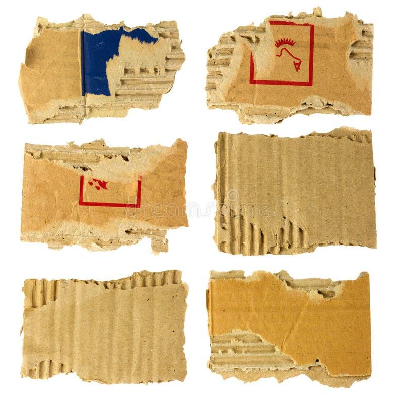 Carton déchiré photos libres de droits