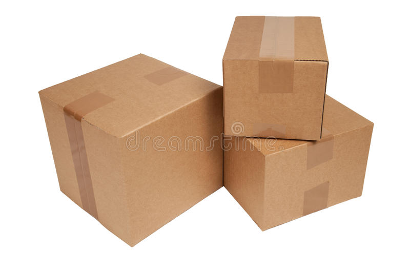 Carton d'isolement photos stock