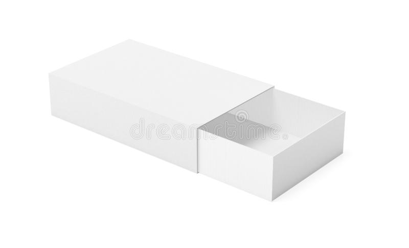 Carton de papier de glisseur Boîte d'allumettes illustration du rendu 3d d'isolement illustration libre de droits