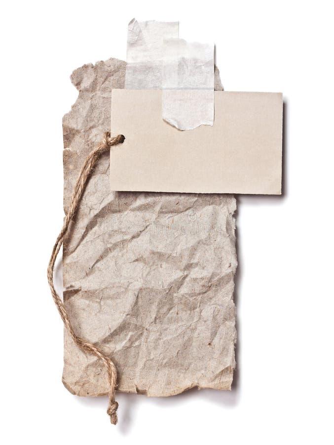 Carton et le papier chiffonné images stock