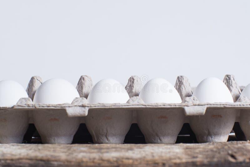 Carton of fresh freerange chicken eggs. Freerange eggs in a carton opened royalty free stock images