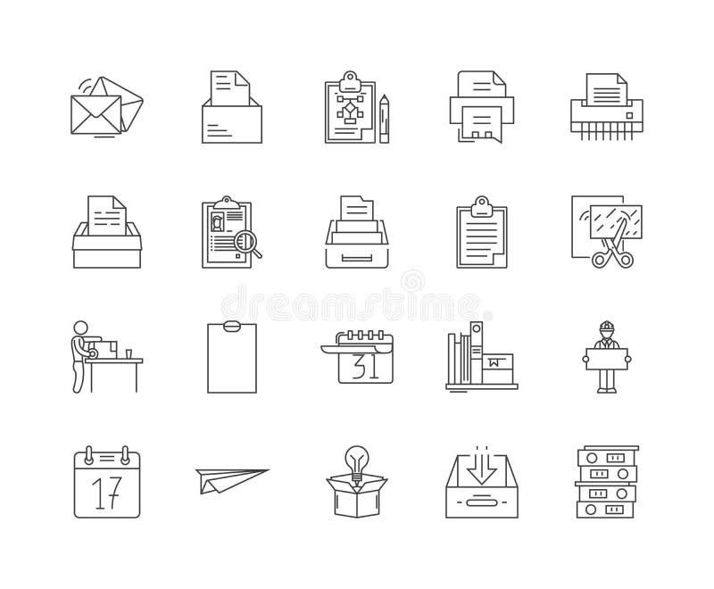 Carton line icons, signs, vector set, outline illustration concept vector illustration