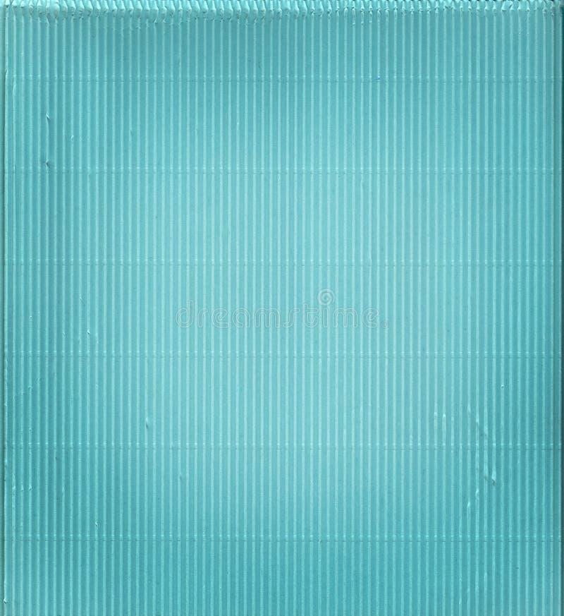 Carton ondulé bleu photo stock