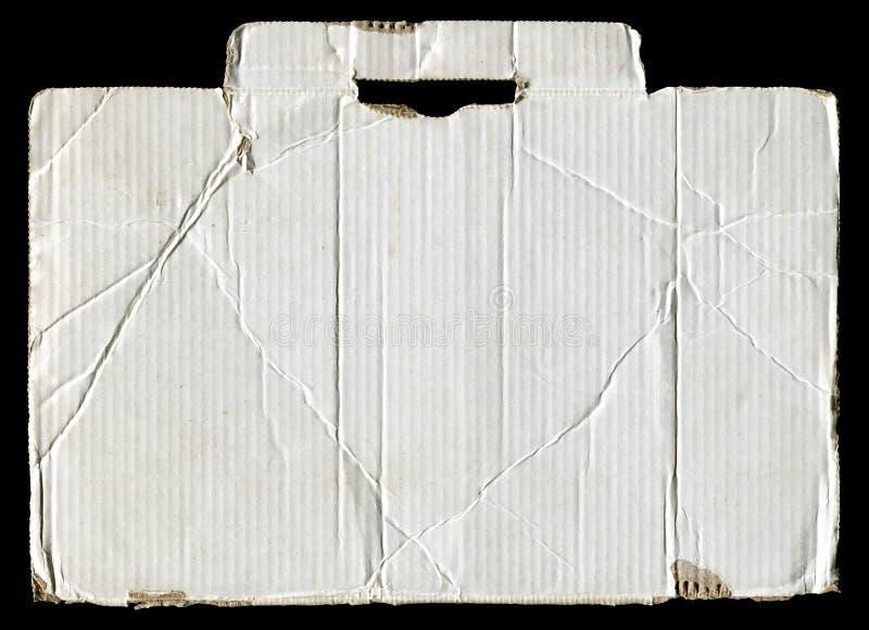 Carton ondulé déchiré blanc images stock