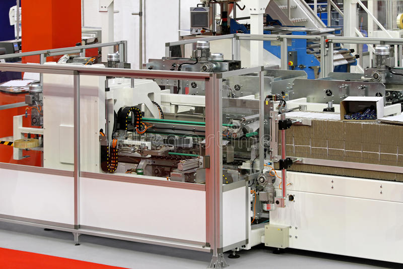 Download Carton packaging line stock image. Image of manufacturing - 20646831