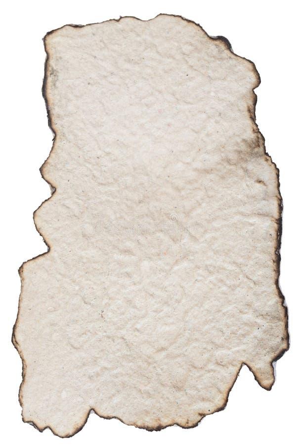 Cartone bruciato su bianco fotografia stock libera da diritti