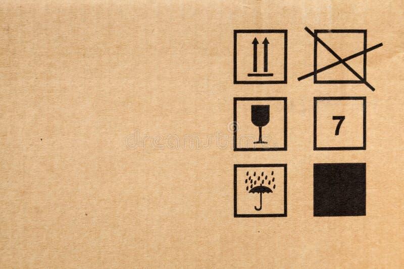 Cartone moderno di Brown con struttura dei segni immagine stock libera da diritti