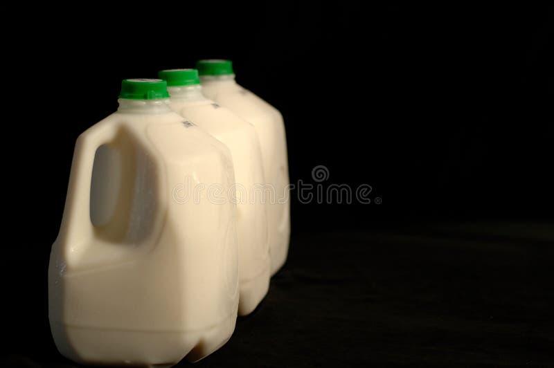 Cartones de la leche fotos de archivo libres de regalías