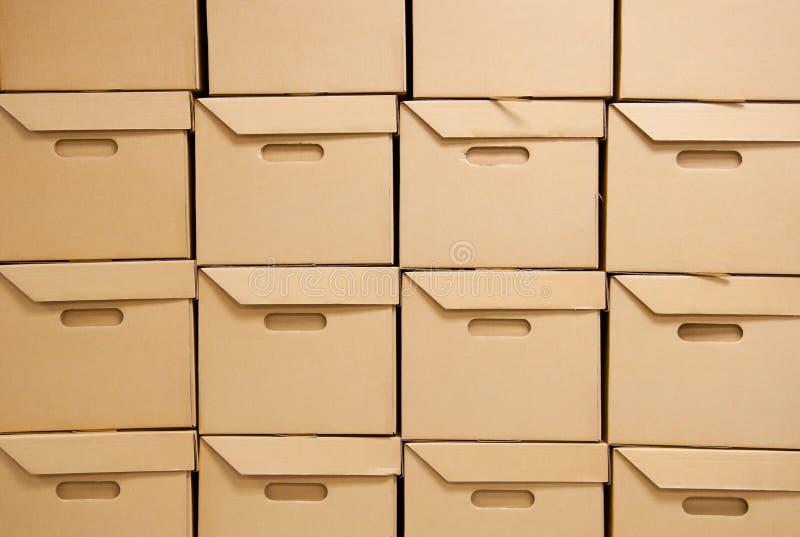 Cartons. image stock