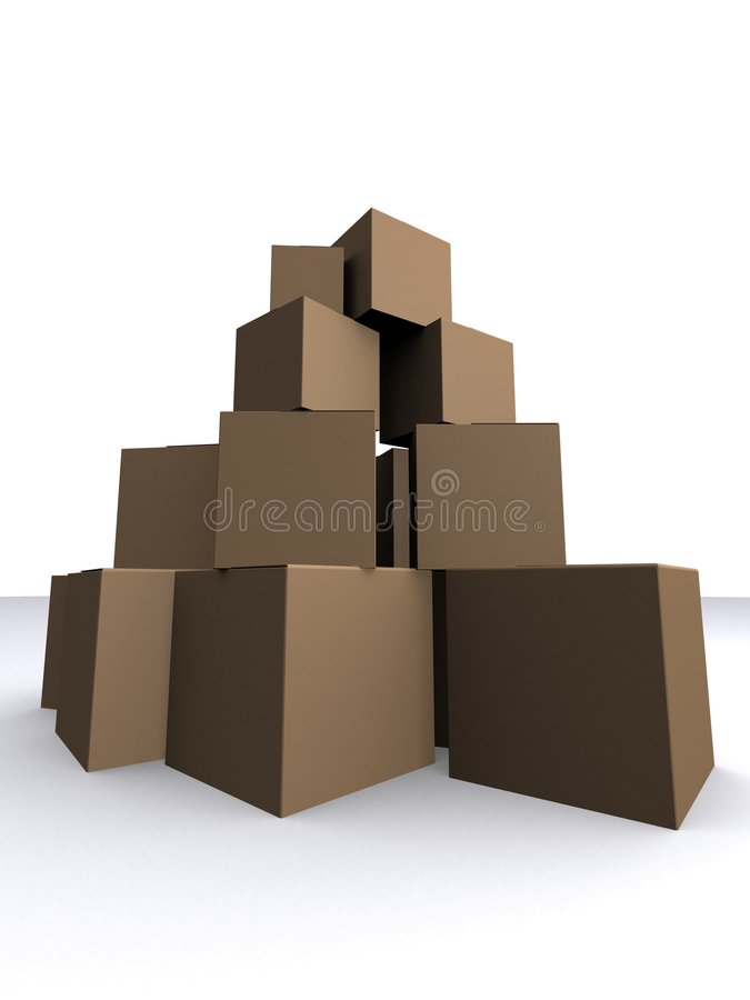 Cartons stock illustration