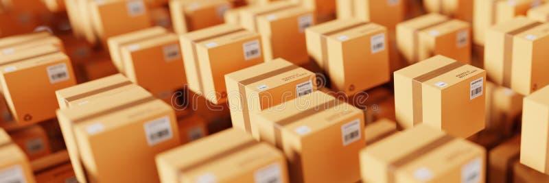 Cartons d'expédition infinis images libres de droits