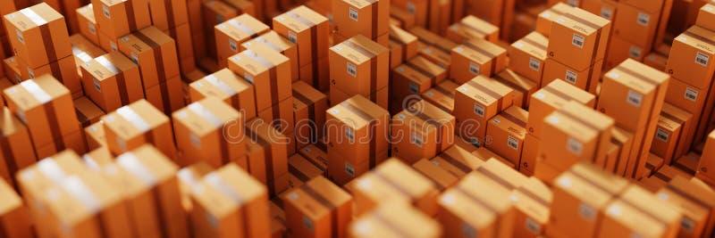 Cartons d'expédition infinis image libre de droits