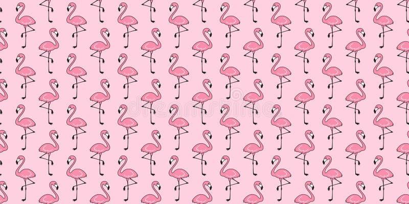 Cartoo de papier peint de répétition de fond de tuile d'isolement par écharpe tropicale exotique sans couture d'été d'oiseau de f illustration libre de droits