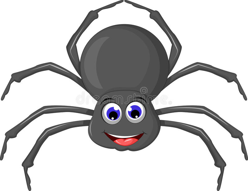 Cartoo-Spinne für Sie Design lizenzfreie abbildung