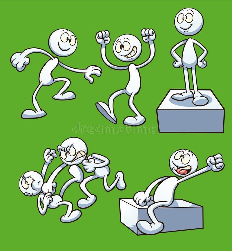 Cartoon_actions illustration libre de droits