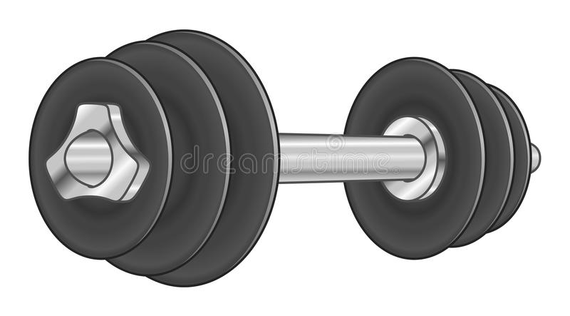 Cartoon adjustable dumbbell vector illustration