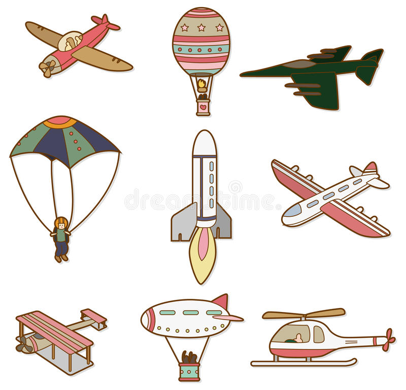 Download Cartoon air transport icon stock vector. Illustration of illustrationaircraft - 17635333