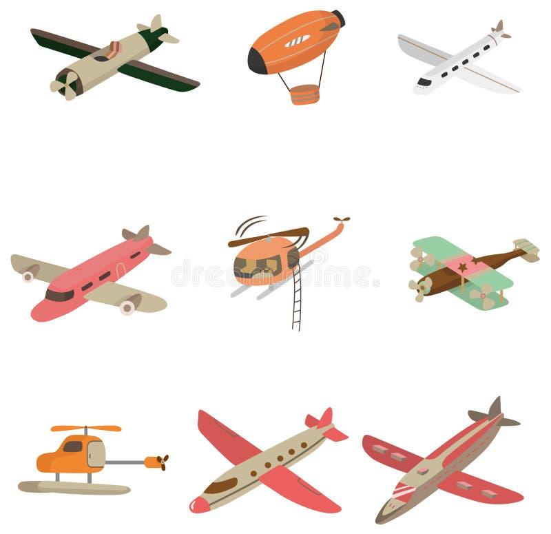 Cartoon aircraft icon royalty free illustration