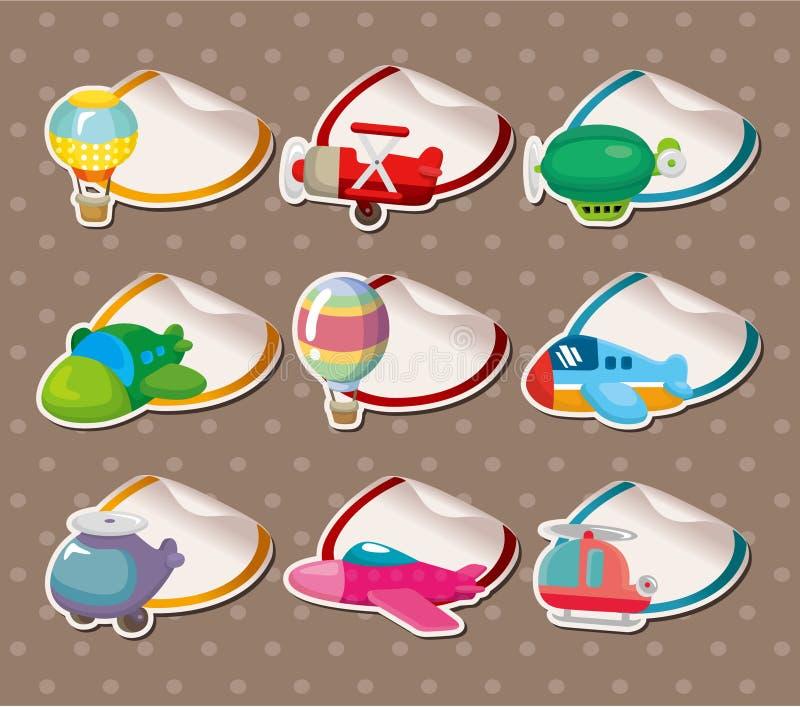 Cartoon airplane Stickers,Label royalty free illustration
