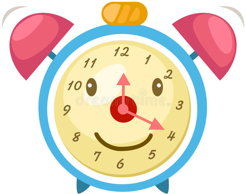 Cartoon alarm clock royalty free illustration