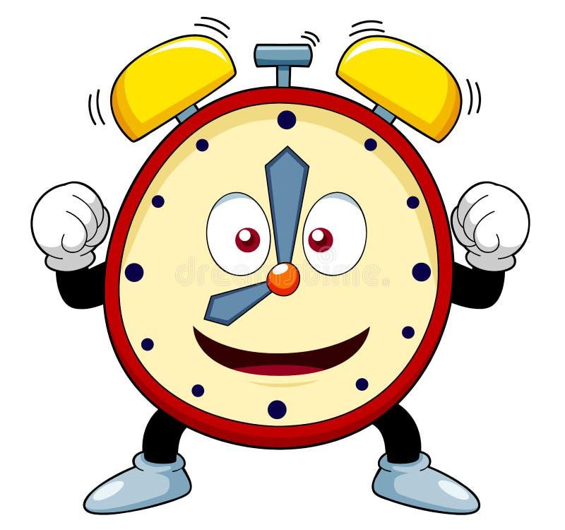 Cartoon alarm clock stock illustration