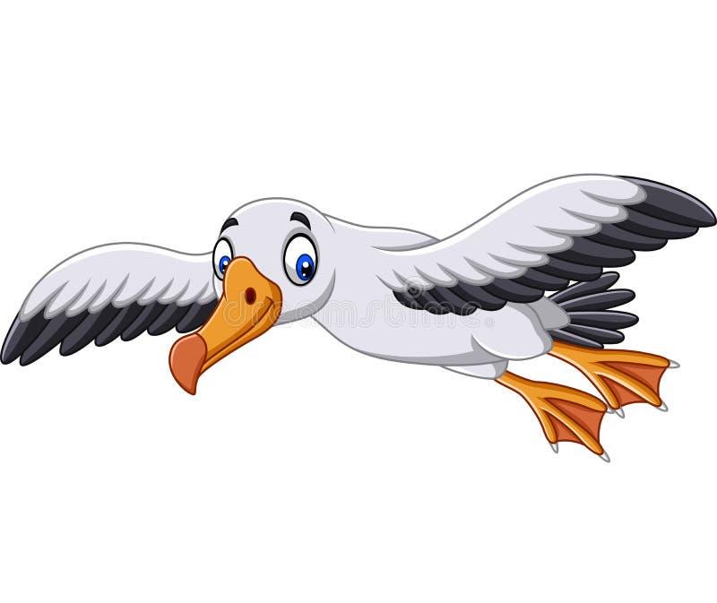 Cartoon albatross flying. Illustration of Cartoon albatross flying vector illustration