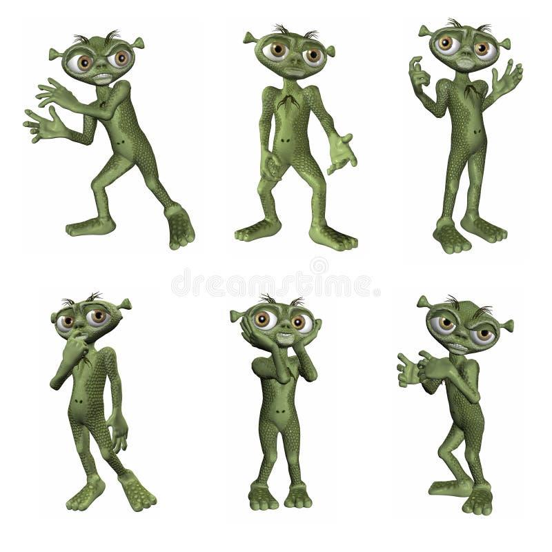 Cartoon Alien stock photos