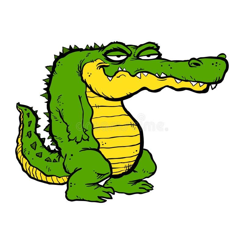 Cartoon Alligator royalty free illustration
