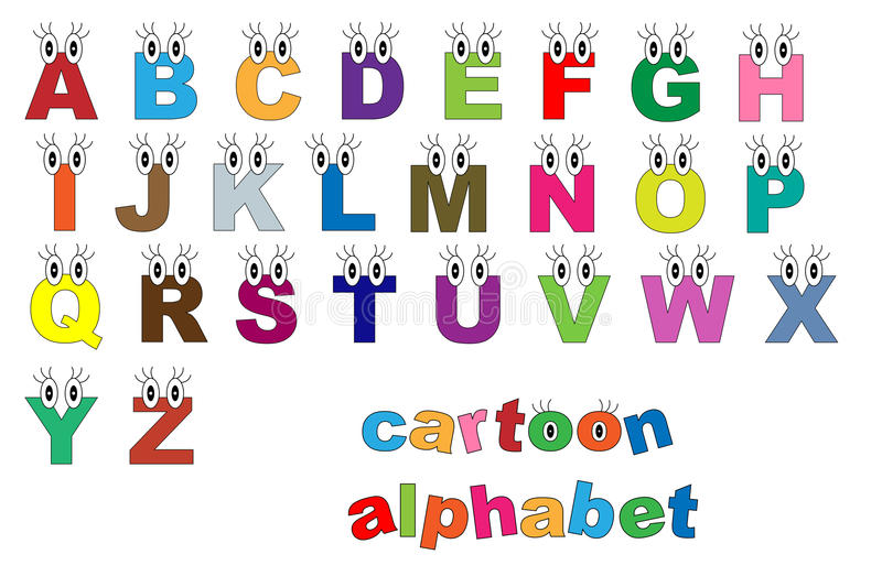 Download Cartoon alphabet stock vector. Image of eyes, design - 17101007