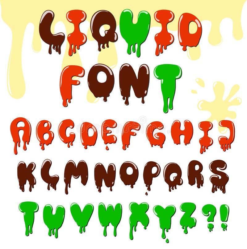Cartoon alphabet royalty free illustration