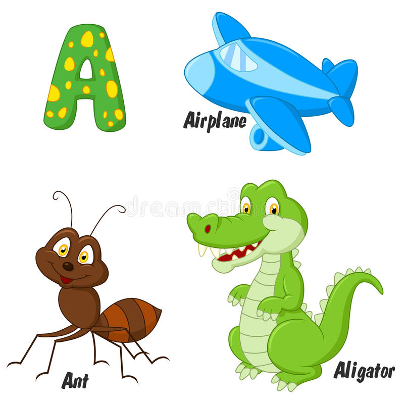 Cartoon A alphabet royalty free illustration