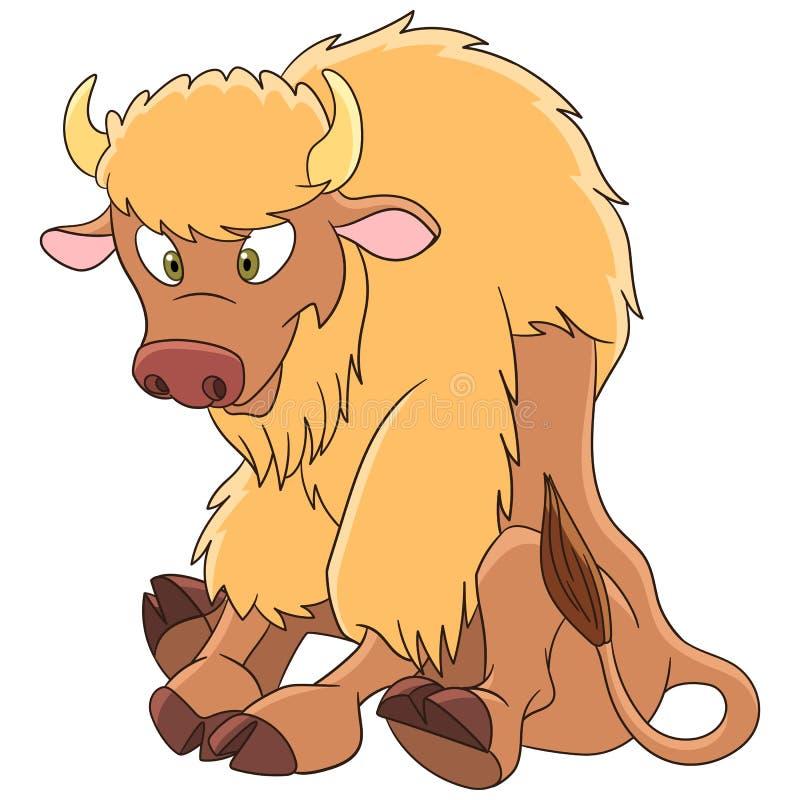 Cartoon american bison stock illustration
