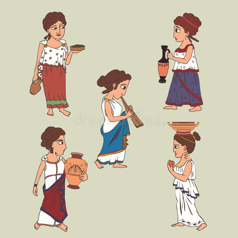 Ancient Greek Clothing Stock Illustrations – 335 Ancient
