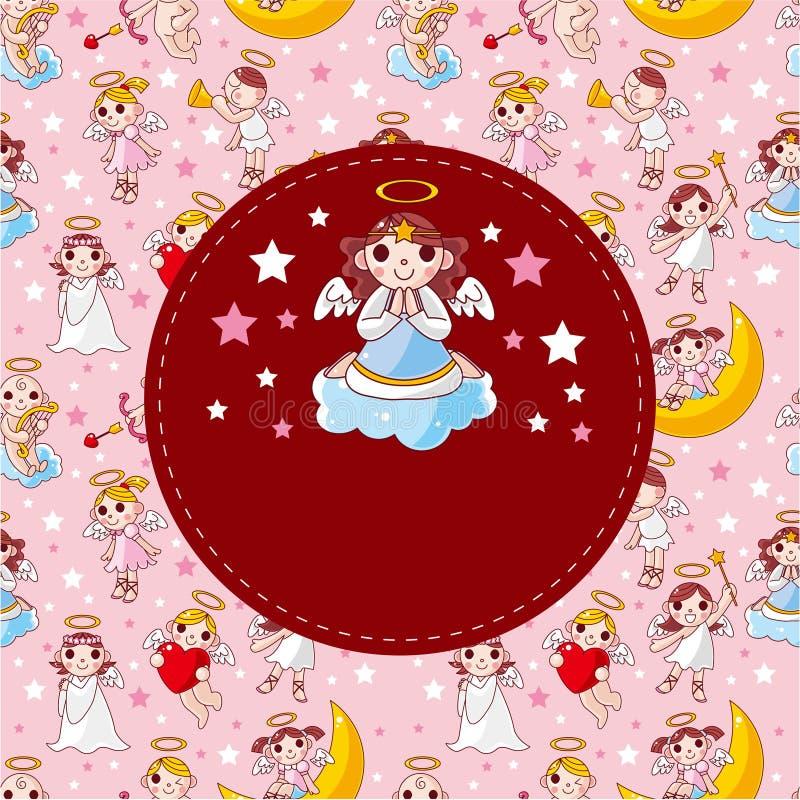Download Cartoon angel card stock vector. Image of friendship - 19149583