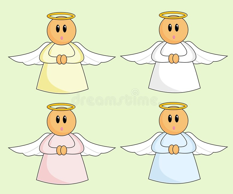 Download Cartoon Angels stock vector. Image of raster, colours - 1351305