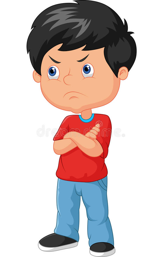 Free Cartoon Angry Boy Royalty Free Stock Photography - 50839697