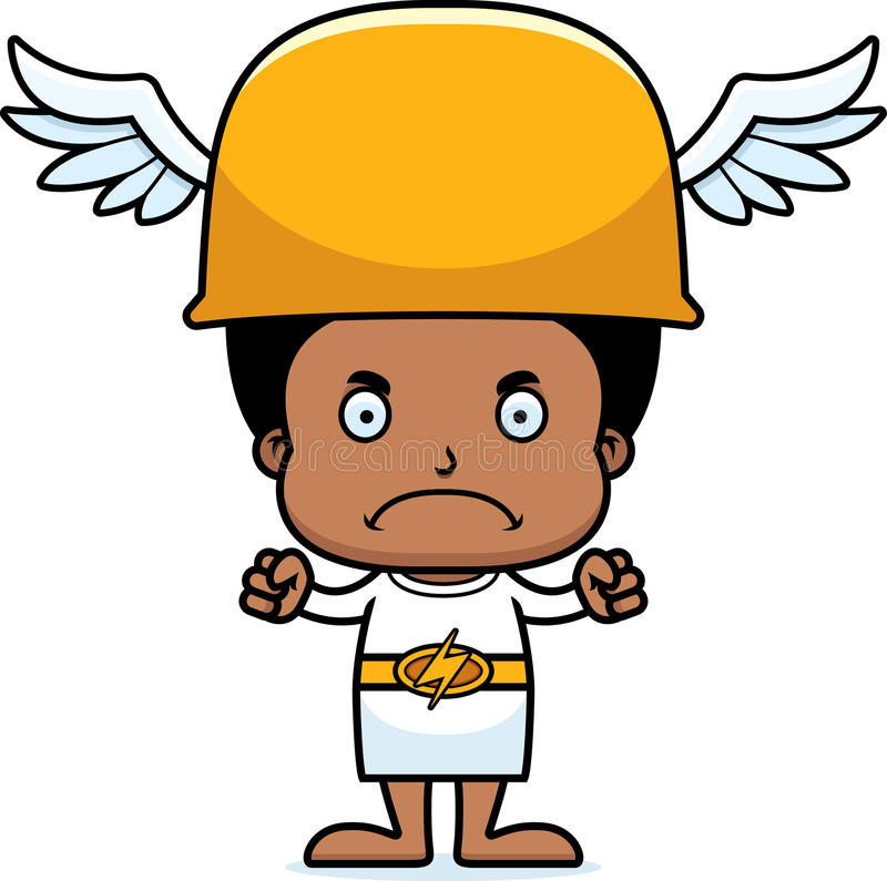 Cartoon Angry Hermes Boy Stock Vector - Image: 55478118