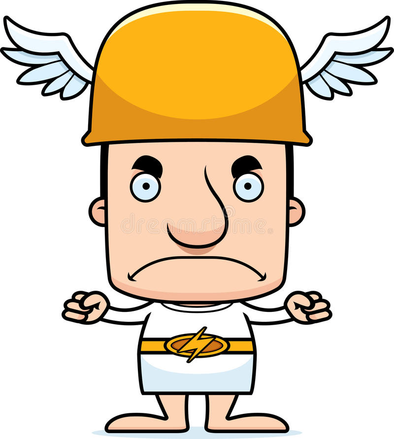Cartoon Angry Hermes Man stock vector. Illustration of ...
