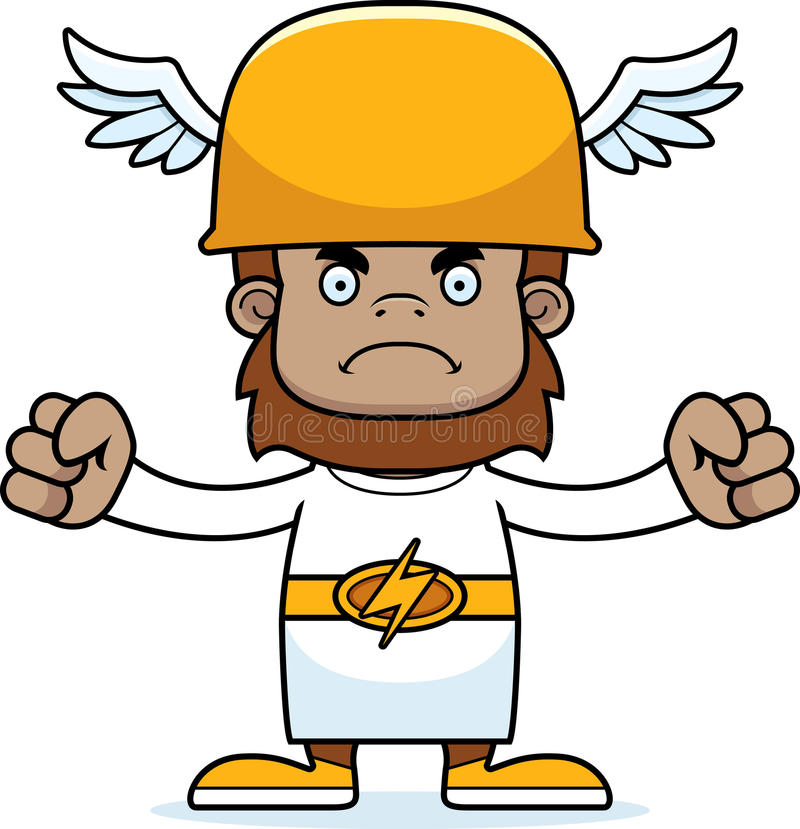 Cartoon Angry Hermes Sasquatch Stock Vector - Illustration ...