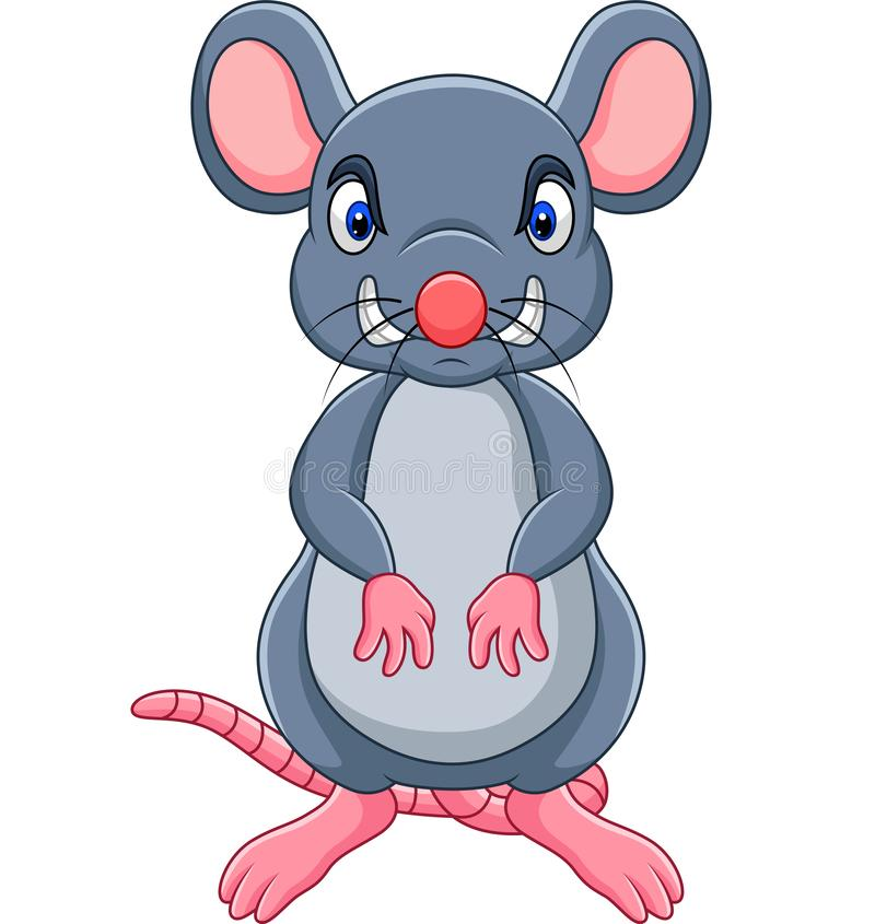 Cartoon angry mouse royalty free illustration