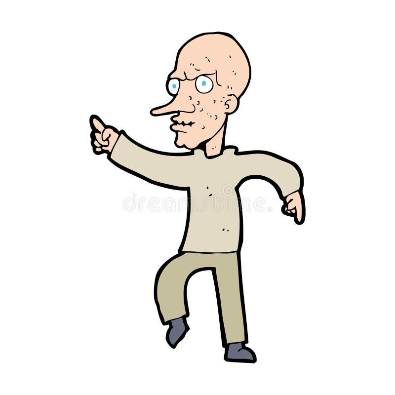 Angry Old Man Drawing Cartoon Angry O...