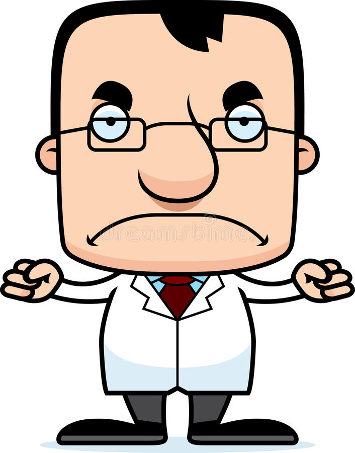 cartoon angry scientist man stock vector illustration of clip rh dreamstime com Excited Clip Art Upset Clip Art